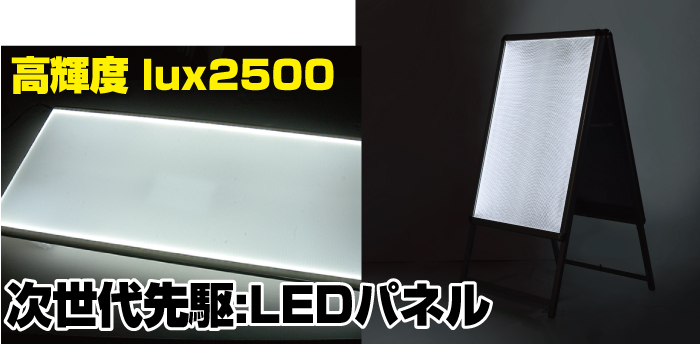 LEDパネルA型看板